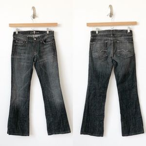 7 For All Mankind bootcut jeans distressed black